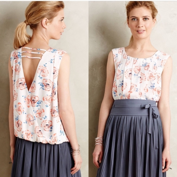 Anthropologie Tops - Meadow Rue pleated petals top
